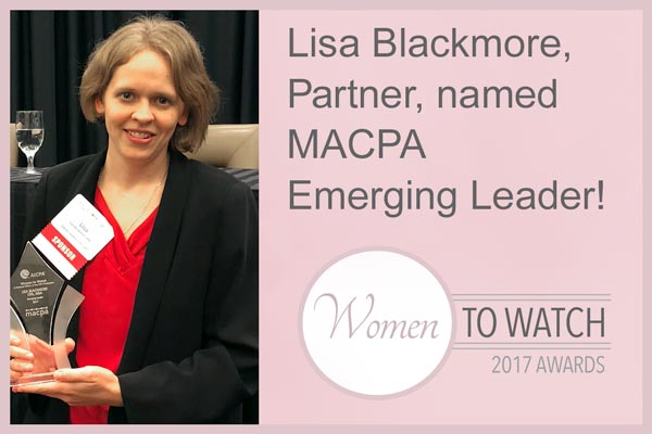 Squire Lemkin's Lisa Blackmore awarded named MACPA Emerging Leader 2017!