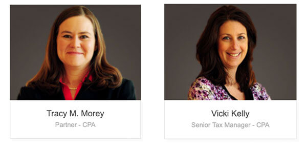 Tracy Morey promoted to Partner, Vicki Kelly promoted to Senior Tax Manager